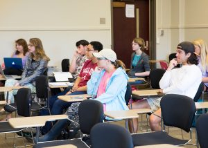 Students in Chris Lynn's anthropology class