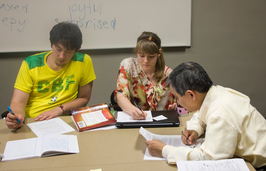 Students in Dilin Liu's class