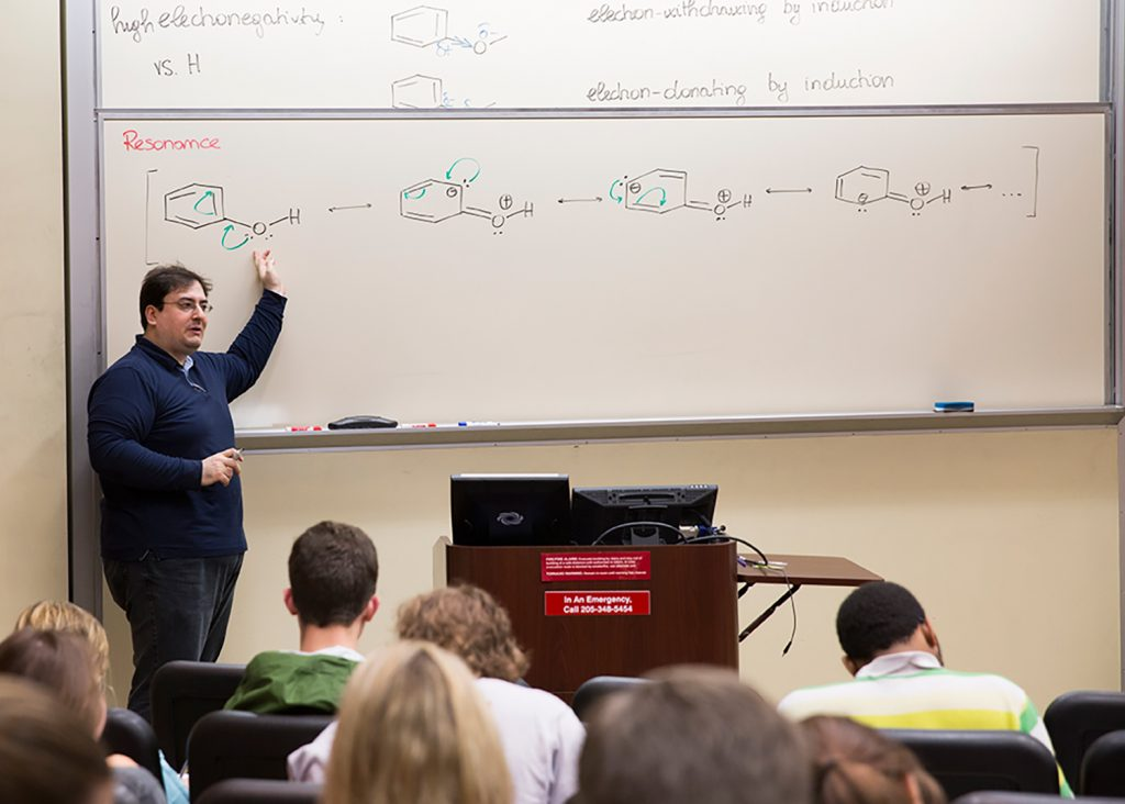 Dr. Bonizzoni's organic chemistry class