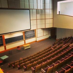 Large, empty classroom