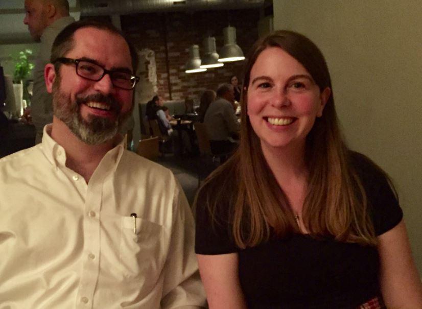 Professors Jessica Kidd and John Miller at the Teaching Professor Technology Conference in Atlanta, GA