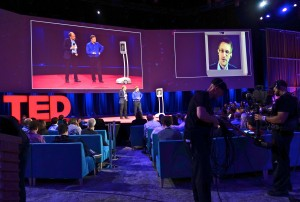 Edward Snowden's surprise appearance at Ted