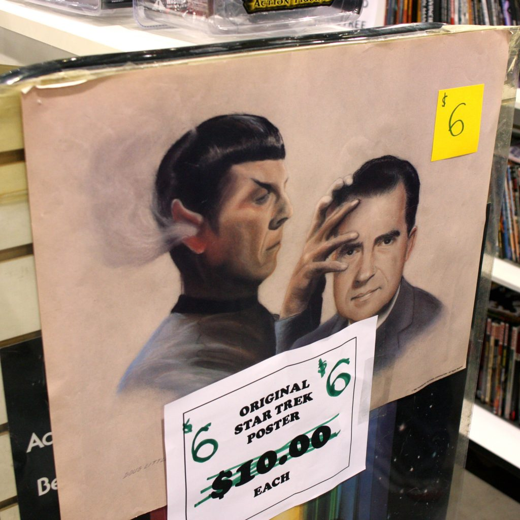 Spock does mind meld on Nixon
