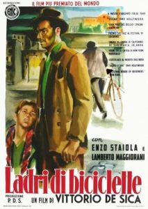Poster for Lamberto Maggiorani's Classic Italian Film the Bicycle Thief