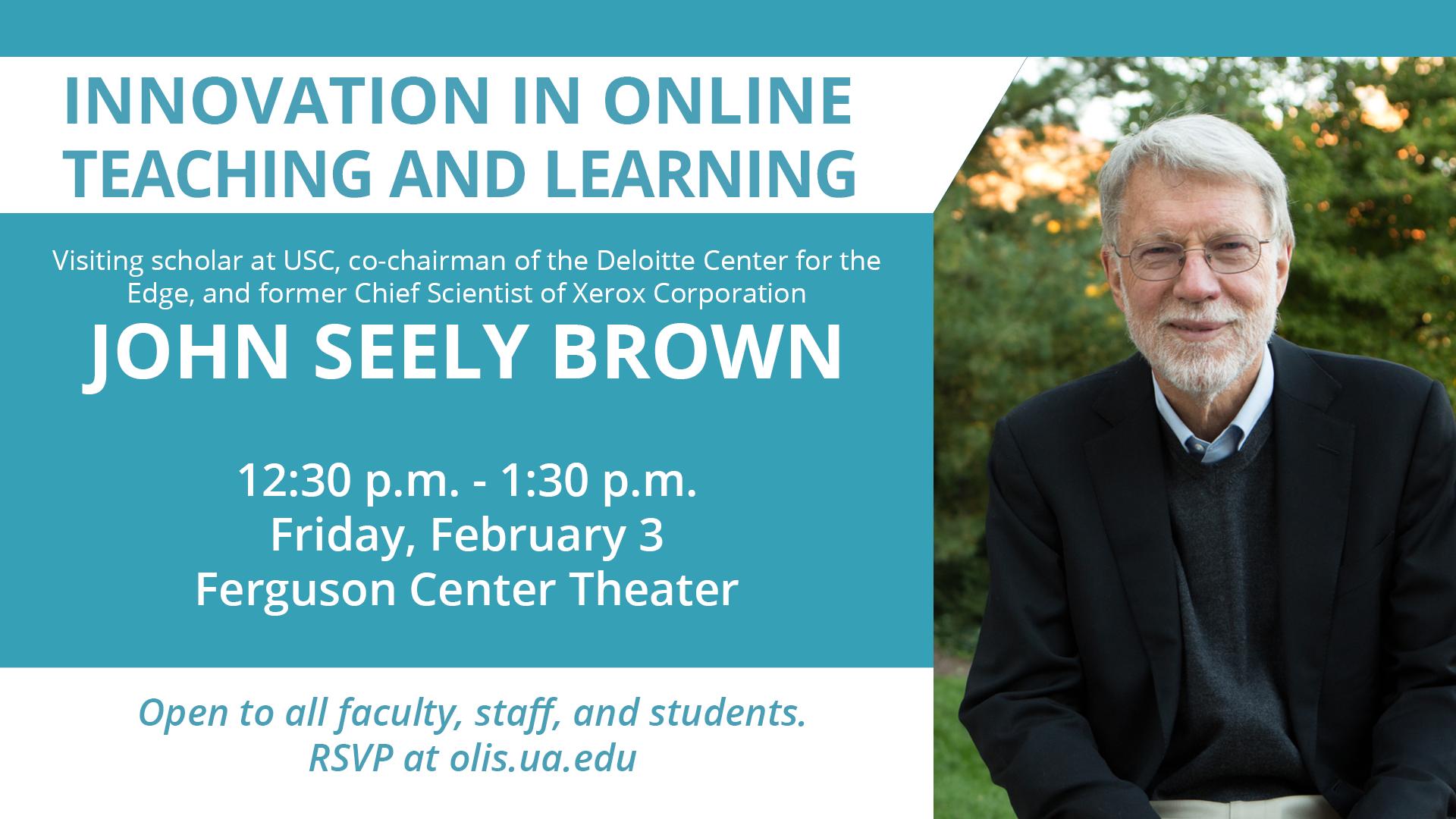 Guest speaker John Seely Brown