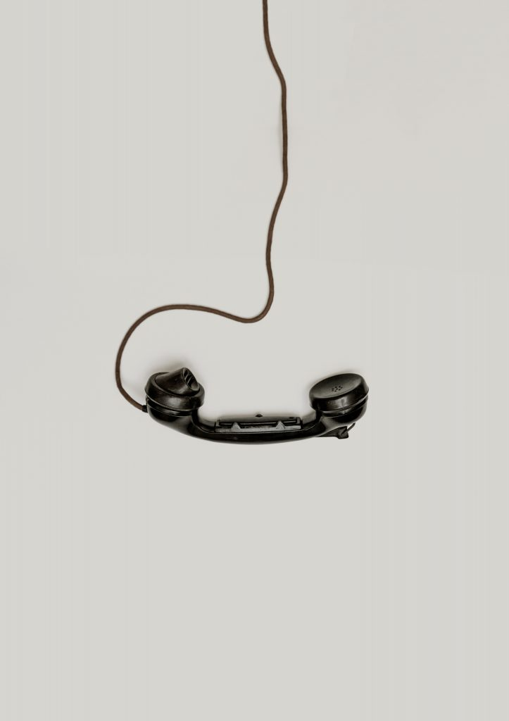 an antique telephone handset