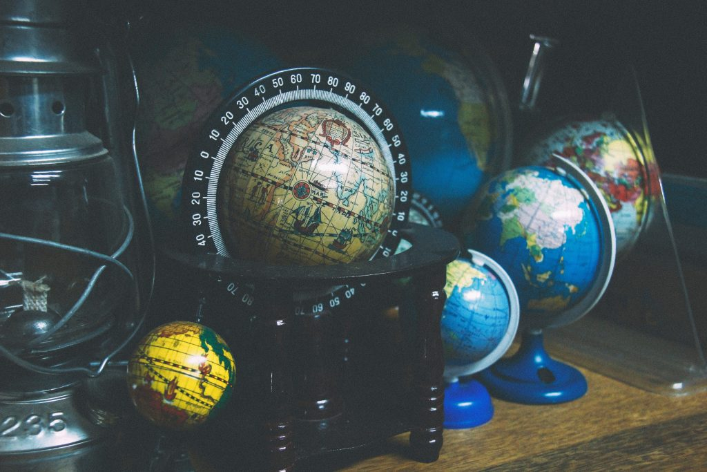 picture of several globes