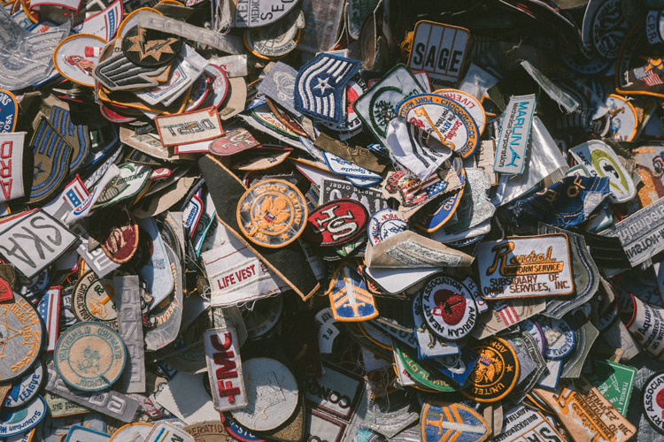 big pile of patches