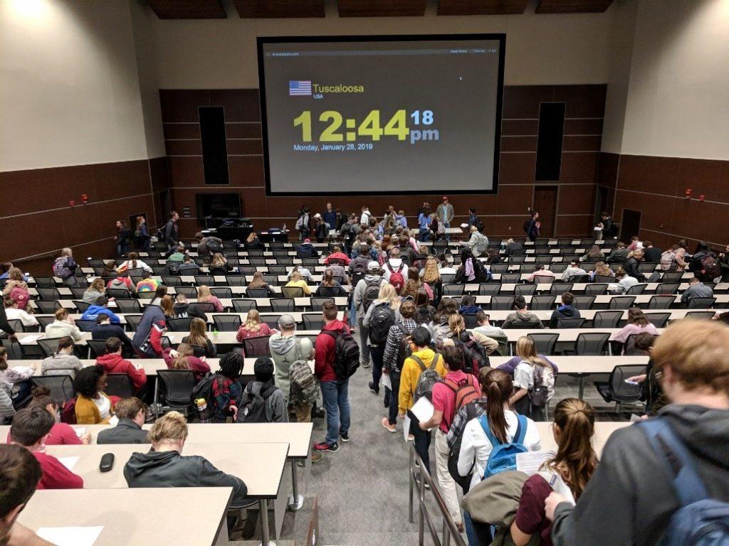 large enrollment classroom
