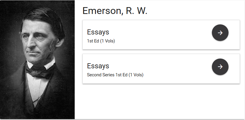 view of web page with ralph waldo emerson entry