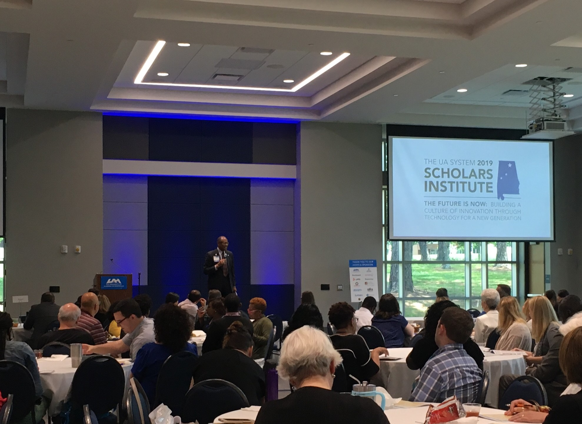 Dr. Charles Nash opens the 2019 system scholars institute
