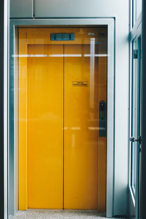 yellow elevator