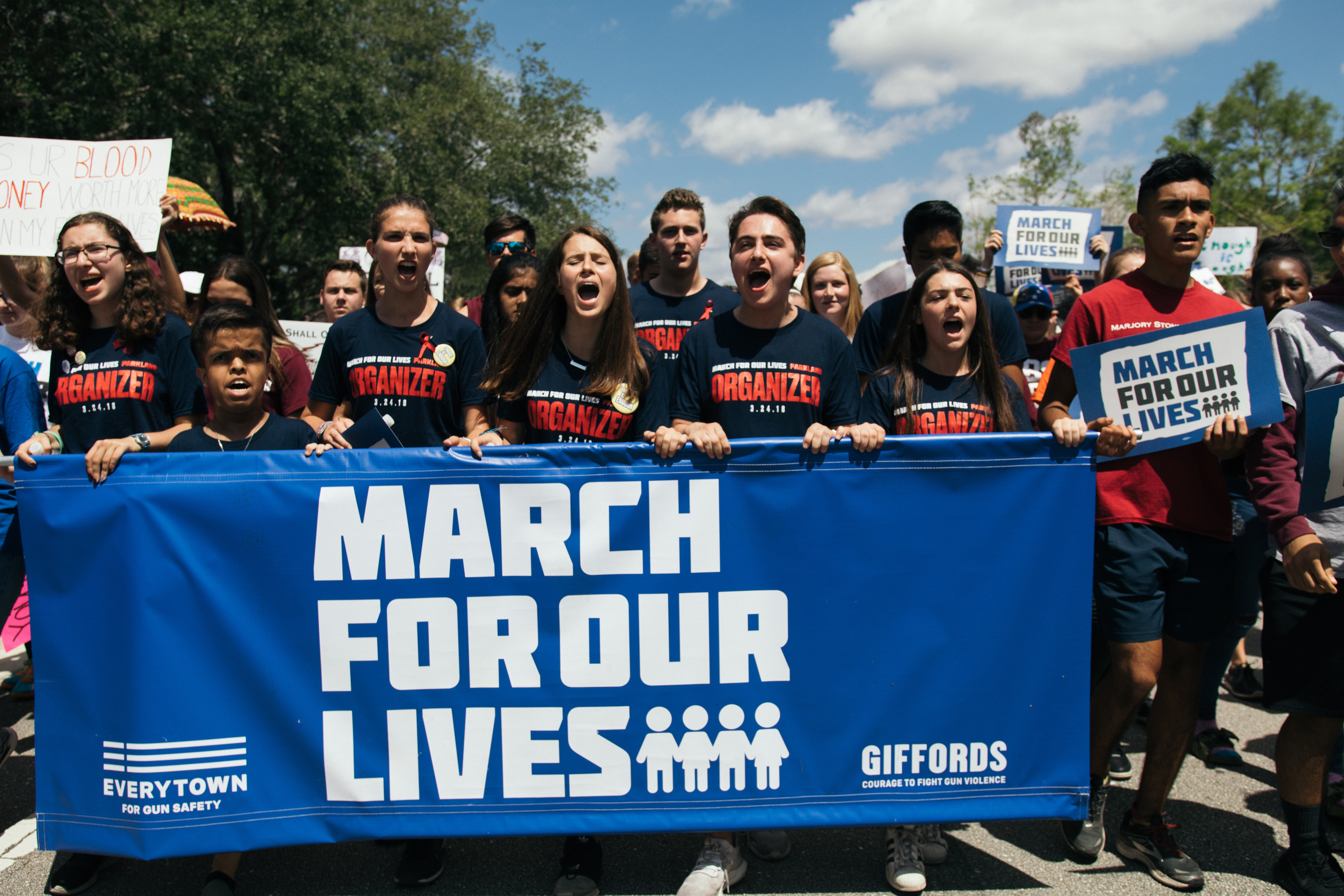 students in a march for our lives demonstration