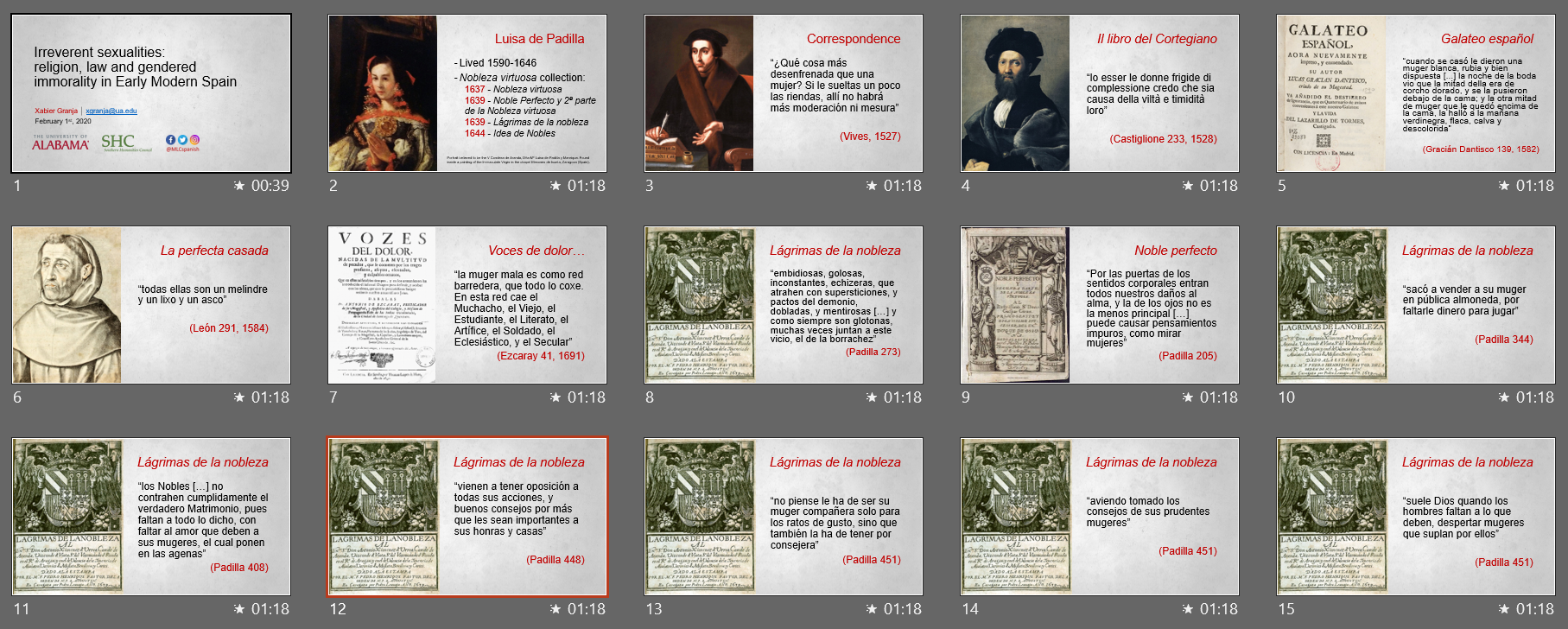 a sample of the author's actual presentation slides